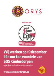 Work 1 hour for Life - SOS Kinderdorpen